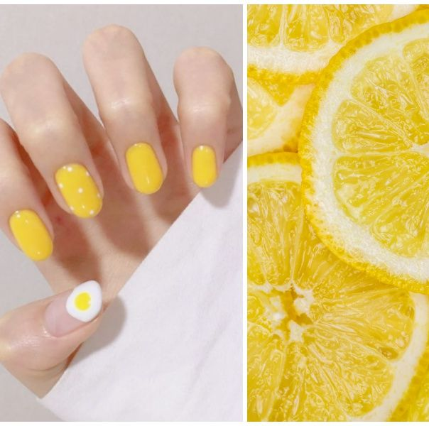 黃色美甲,檸檬黃,荷包蛋美甲,beauty