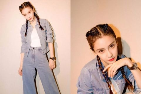 Jeans, Clothing, Denim, Hairstyle, Suspenders, Outerwear, Shoulder, Fashion, Photo shoot, Jacket,