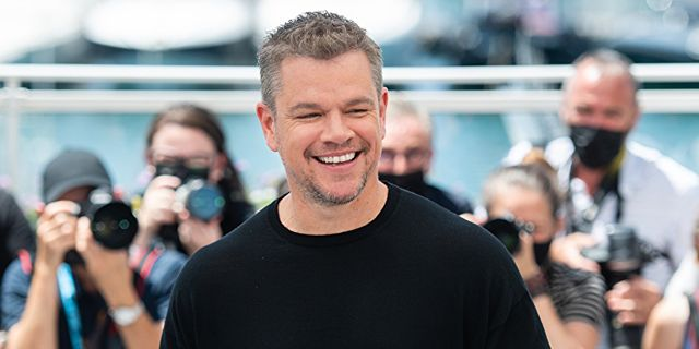 cannes, france   july 09 matt damon attends stillwater photocall during the 74th annual cannes film festival on july 09, 2021 in cannes, france photo by samir husseinwireimage