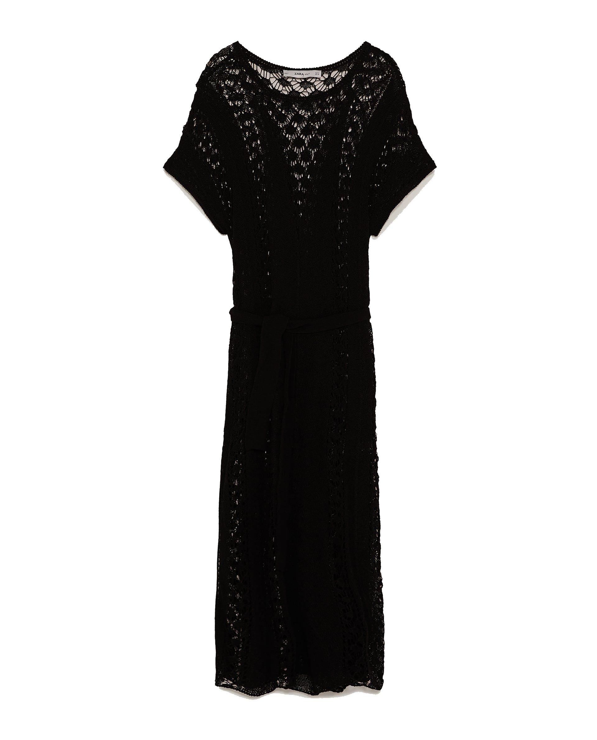 Calado Rebajas Vestido Zara Zara Negro Tallas IdfSwYxY