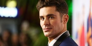 Zac Efron with brown hair