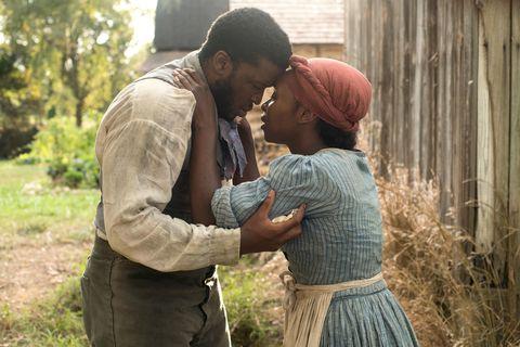 Zackary Momoh as John, Cynthia Erivo as Harriet Tubman, Harriet