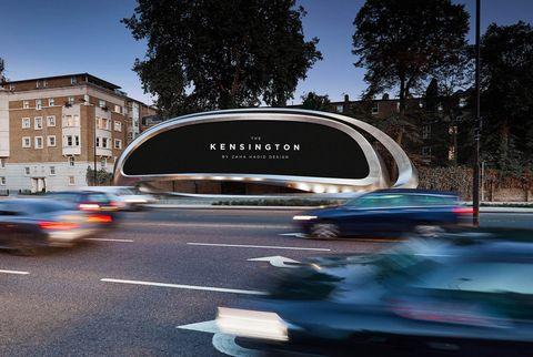 Zaha Hadid Architects diseña una valla publicitaria para JCDecaux en Londres