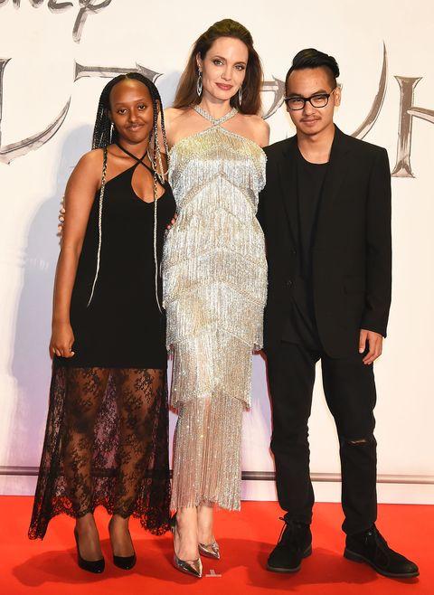 Angelina Jolie And Maddox Jolie Pitt Reunited At Maleficent
