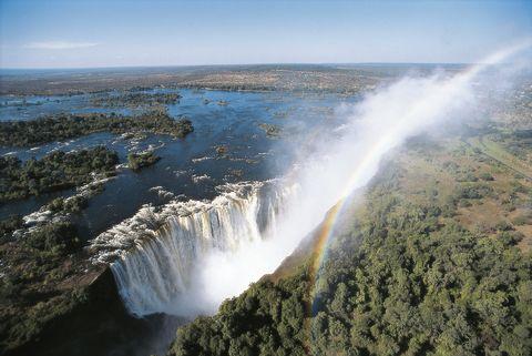 Zambia, Mosi-oa-Tunya National Park, Victoria Falls, rainbow