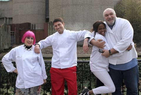Zandra Rhodes, Joey Essex, Oti Mabuse, Neil Ruddock on Celebrity MasterChef