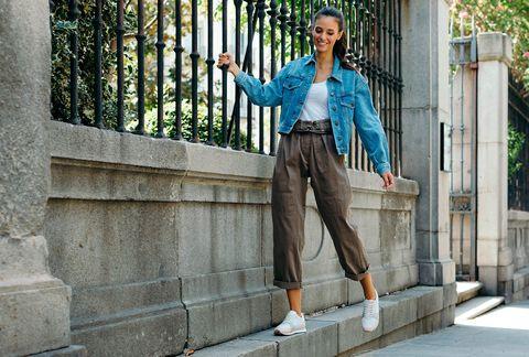 Street fashion, Clothing, Denim, Blue, Green, Jeans, Fashion, Snapshot, Turquoise, Waist,