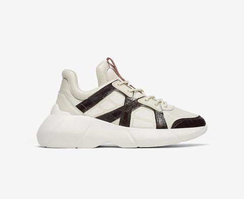 Zapatillas deportivas blancas con aplicaciones de piel de coco