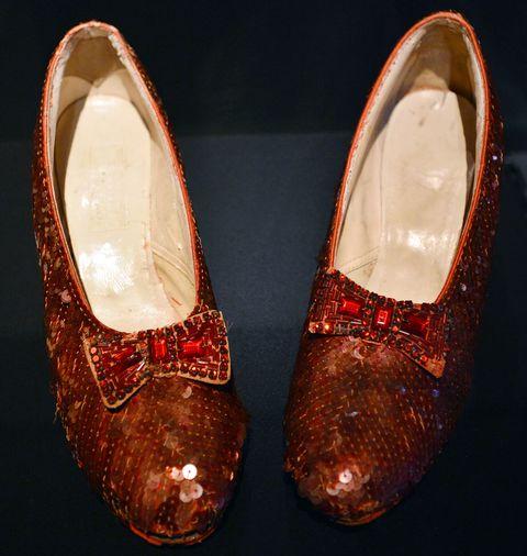 las zapatillas de Dorothy, Judy Garland, en el Mago de Oz