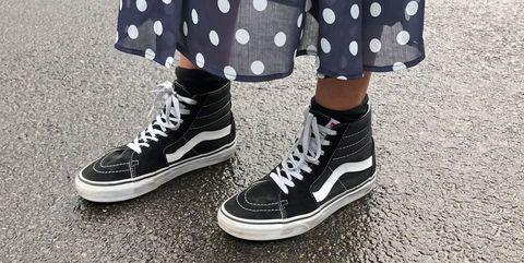zapatillas vans vestido lunares