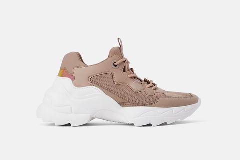 Footwear, Sneakers, Shoe, White, Brown, Beige, Khaki, Sportswear, Tan, Leather,