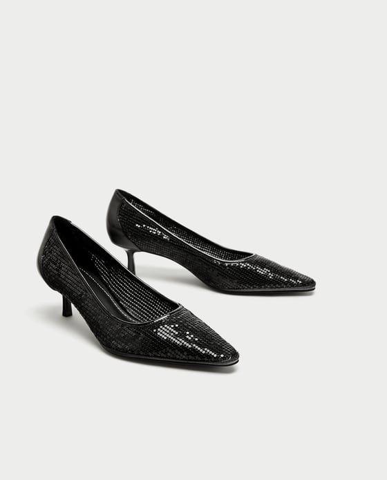 Zapatos de tacón bajo para aguantar estas fiestas