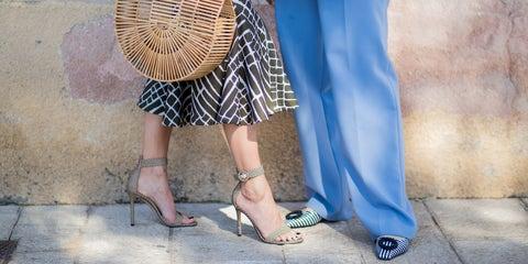 Blue, Street fashion, Clothing, Fashion, Snapshot, Leg, Waist, Shoulder, Footwear, Shoe,