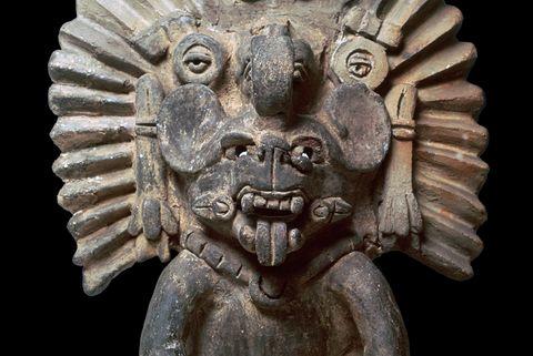 Zapotec statuette of a bat-god.