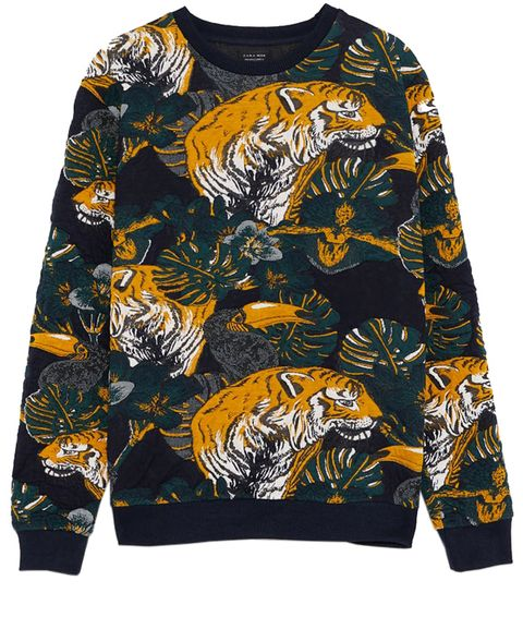 Clothing, Long-sleeved t-shirt, Sleeve, Black, Outerwear, Yellow, Neck, Pattern, Sweater, T-shirt,