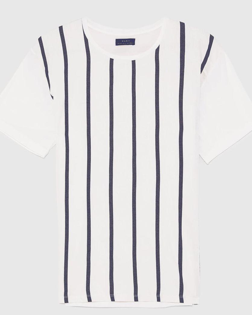 camisetas de rayas con americana