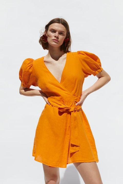 venta usa en línea Muy bonita venta barata ee. Este es el vestido naranja de Zara que está conquistando las redes