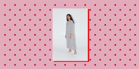 Pattern, Red, Pink, Polka dot, Design, Textile, Pattern, Peach, Art,