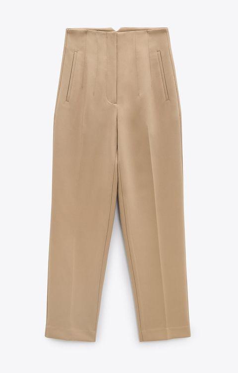 zara beige pantalon