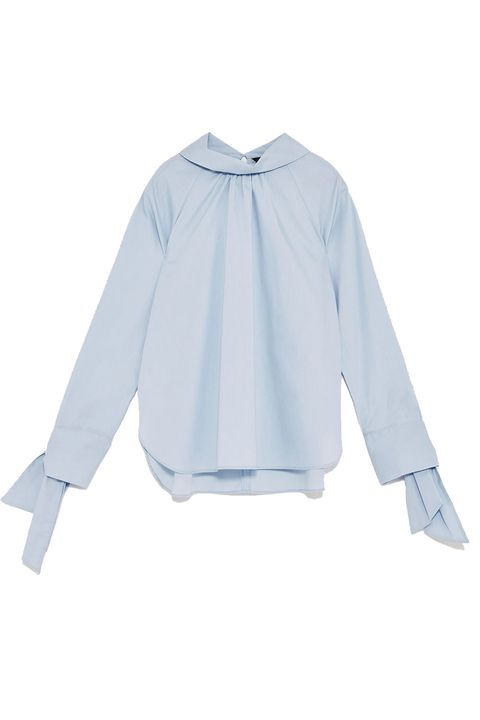 Clothing, White, Sleeve, Blue, Blouse, Shirt, Collar, Outerwear, Top, Shoulder,