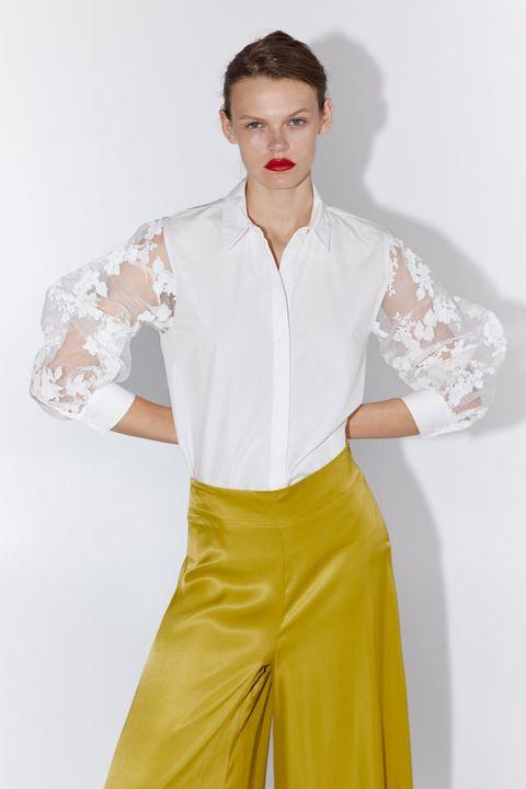 mayor descuento auténtico el mejor La blusa de Zara con mangas de organza está incendiando ...