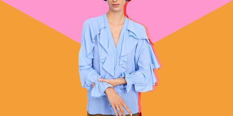 enorme sconto 00821 81111 Zara, la camicia azzurra con i volant per la primavera 2019