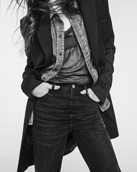 Charlotte Gainsbourg wears her blackboard collection in black and white