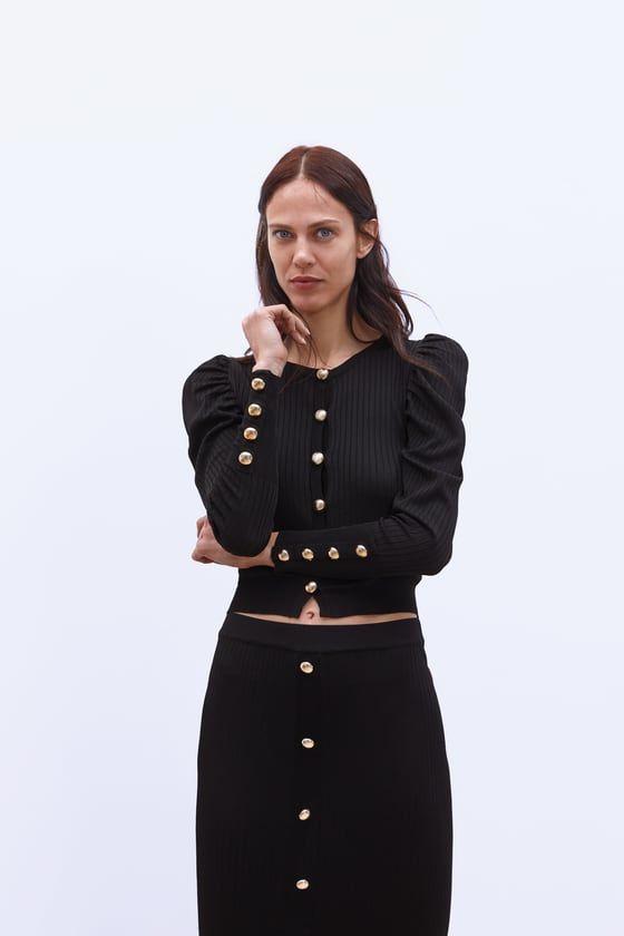 3695b509e Esta chaqueta abotonada de Zara de 20 € es la mejor para llevar con ...