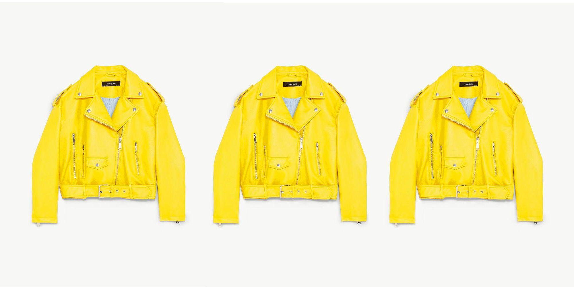 chaqueta zara cuero amarilla comprar