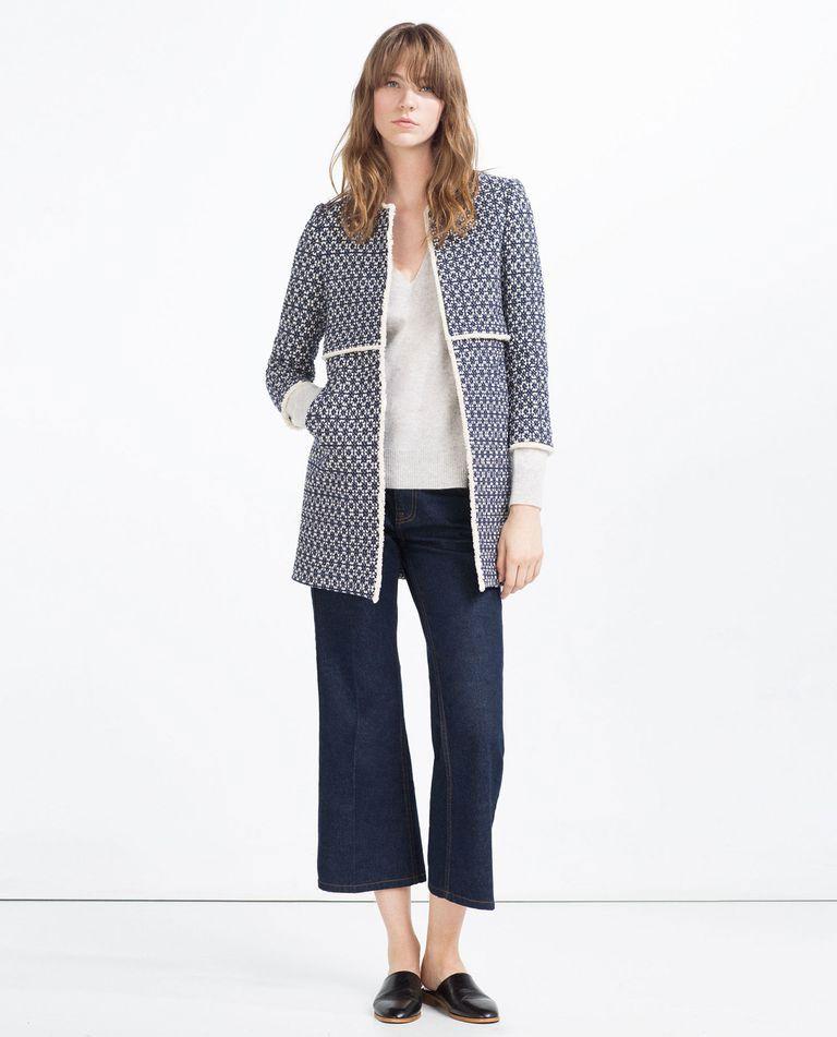Zara coat ebay
