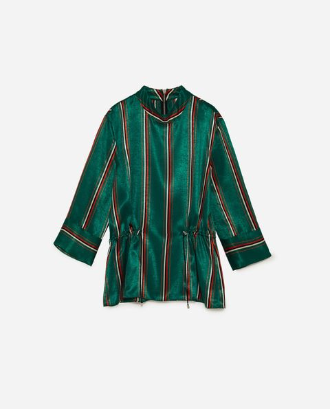 Clothing, Green, Sleeve, Outerwear, Blouse, Jacket, Pattern, Top,
