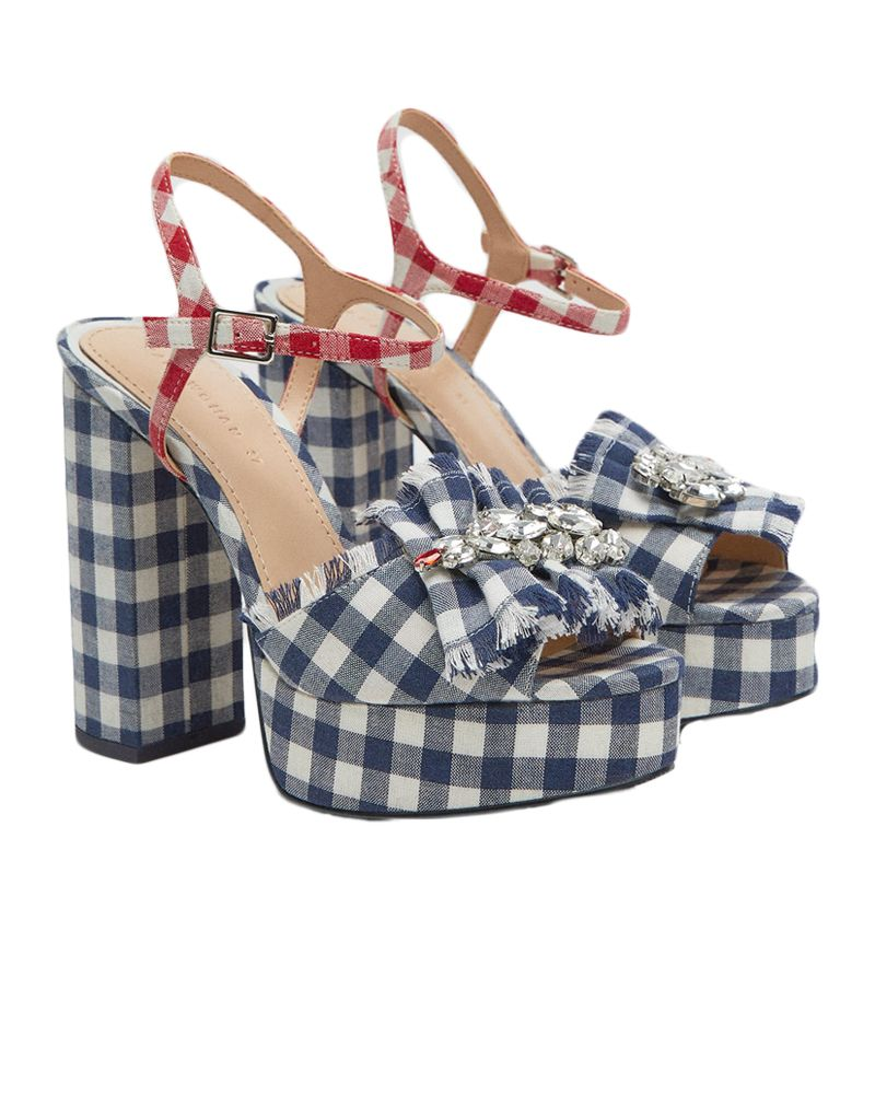 Zara gingham platforms