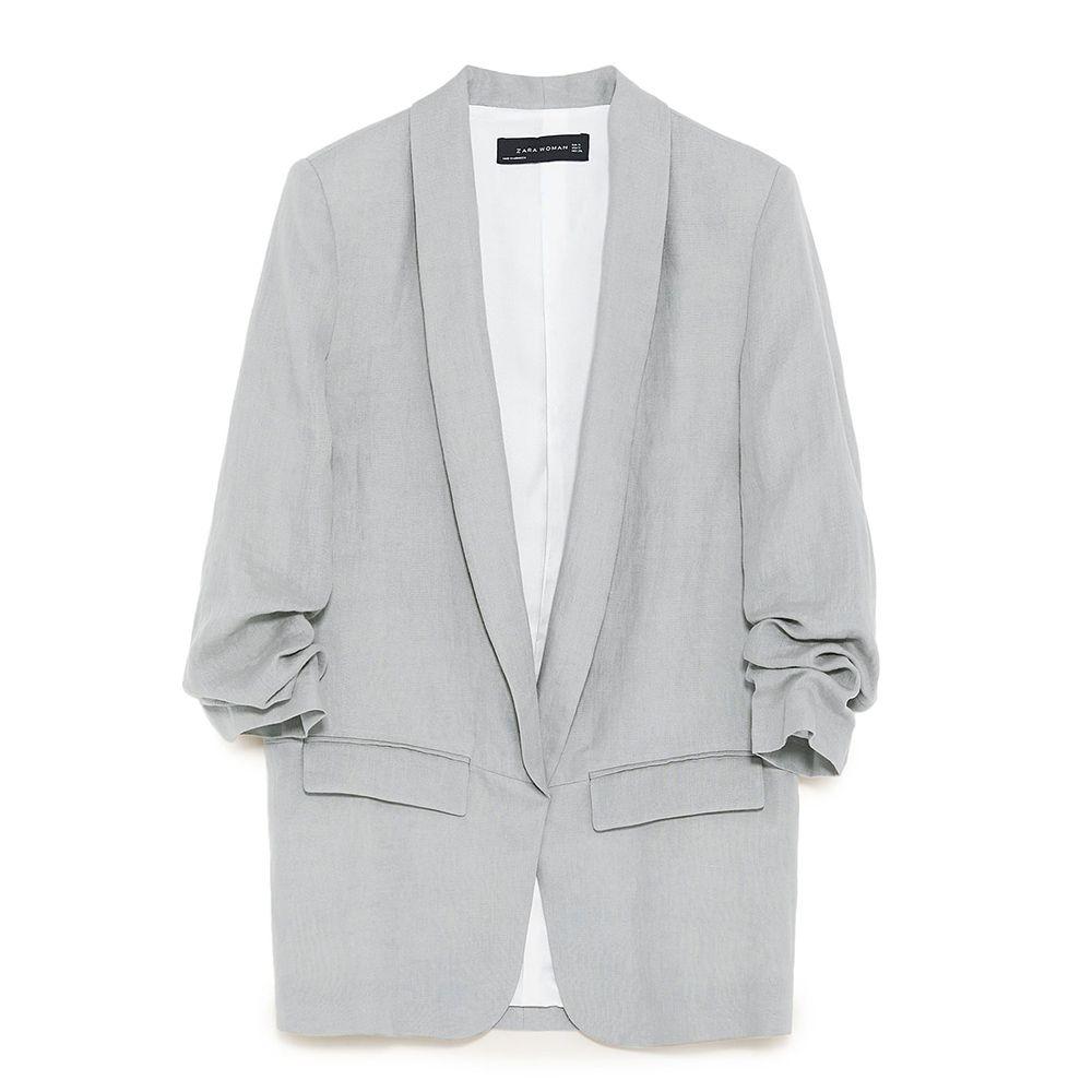 zara gray blazer