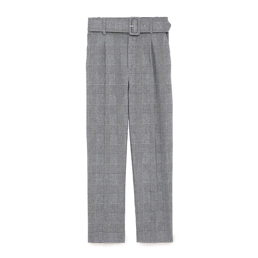 zara gray check pants