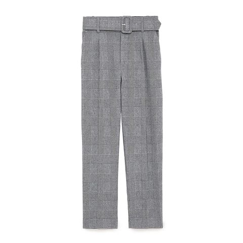 zara gray check pants