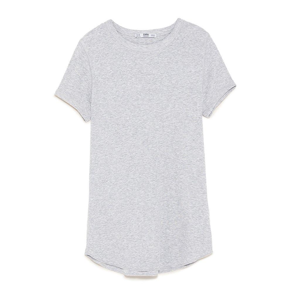 zara gray tshirt