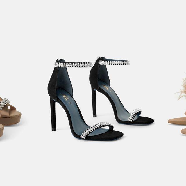 nuevo producto 6e3c4 562c7 10 zapatos de fiesta de Zara, planos, con tacón sensato y ...