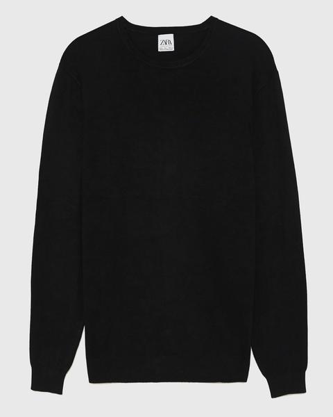 Jersey negro Zara, jersey negro hombre, zara