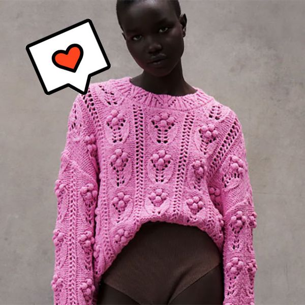 zara sabe cómo va a ser el jersey que no te va a quitar en toda la primavera color rosa chiche y xxl prepárate para llevarte todas las miradas de la temporada