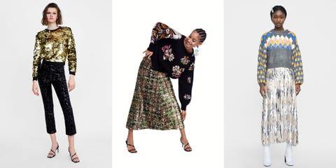 Clothing, Fashion model, Fashion, Dress, Fashion design, Neck, Sleeve, Pattern, Pattern, Formal wear,