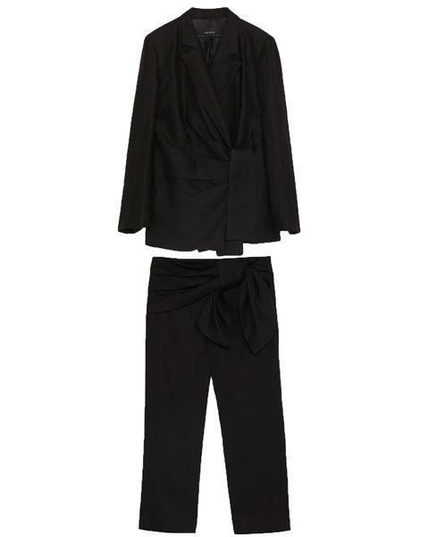 Zara draped bow blazer Draped bow trousers