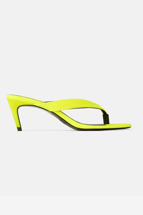 zara heeled flip flop, kit-flop