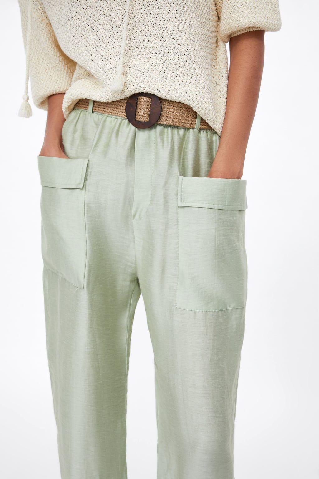 largo pantalón zara