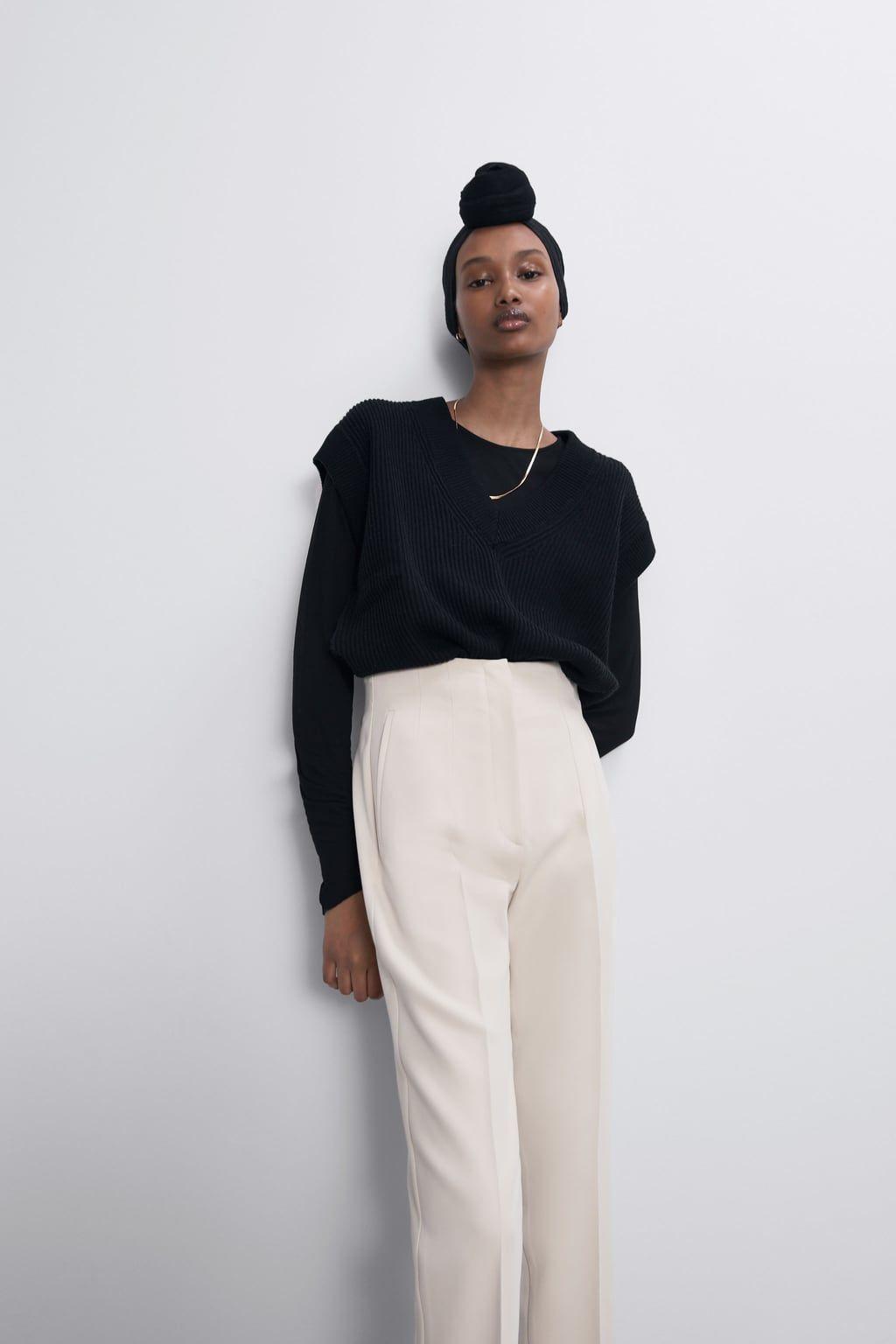 repollo Increíble Volver a llamar  El pantalón de vestir de tiro alto que Zara en 5 colores ideales