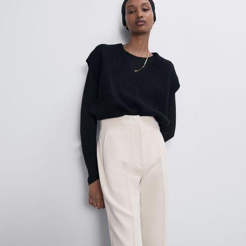 El Pantalon De Vestir De Tiro Alto Que Zara En 5 Colores Ideales