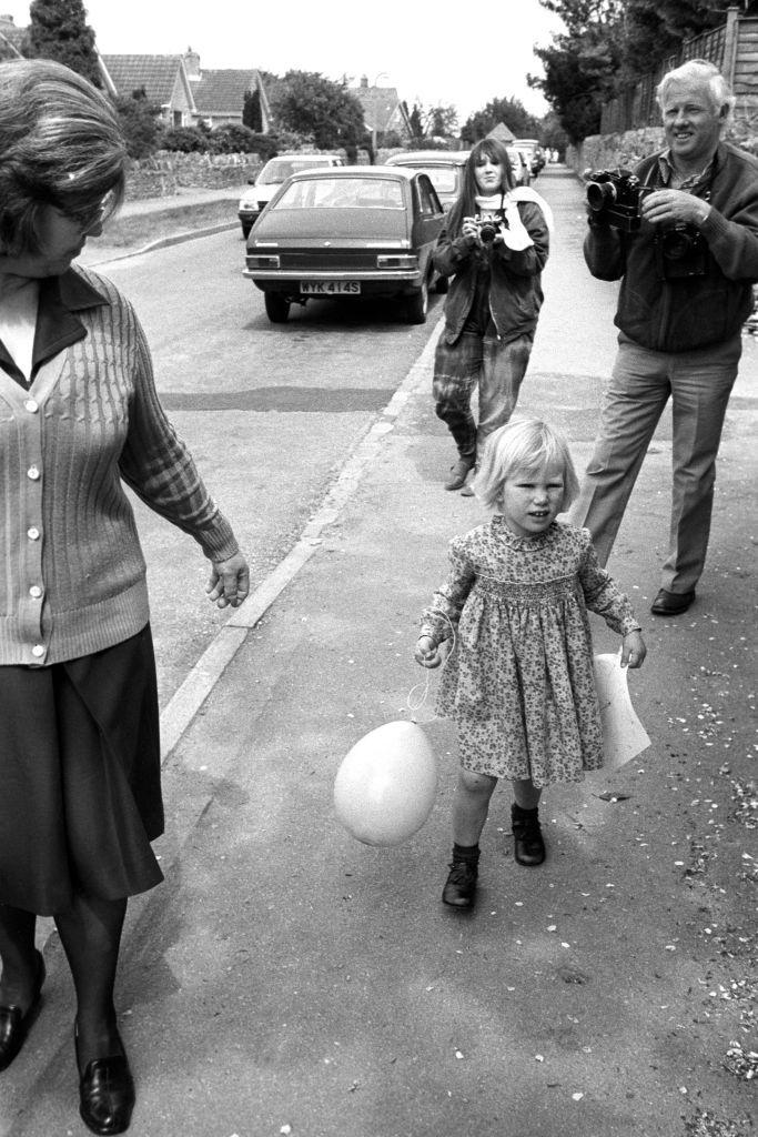 Zara Phillips at nursery in 1984