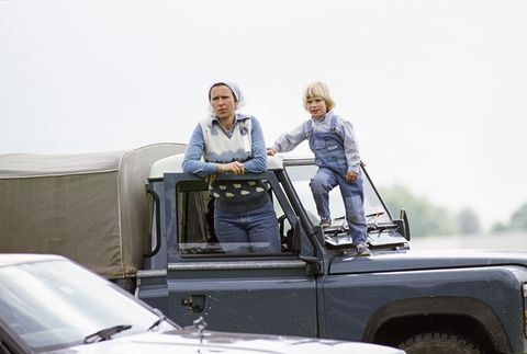 zara phillips and anne at windsor horse show