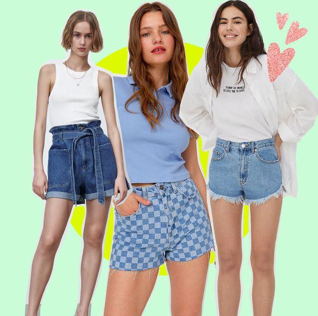 shorts vaqueros de zara, pullaandbear y stradivarius para este verano