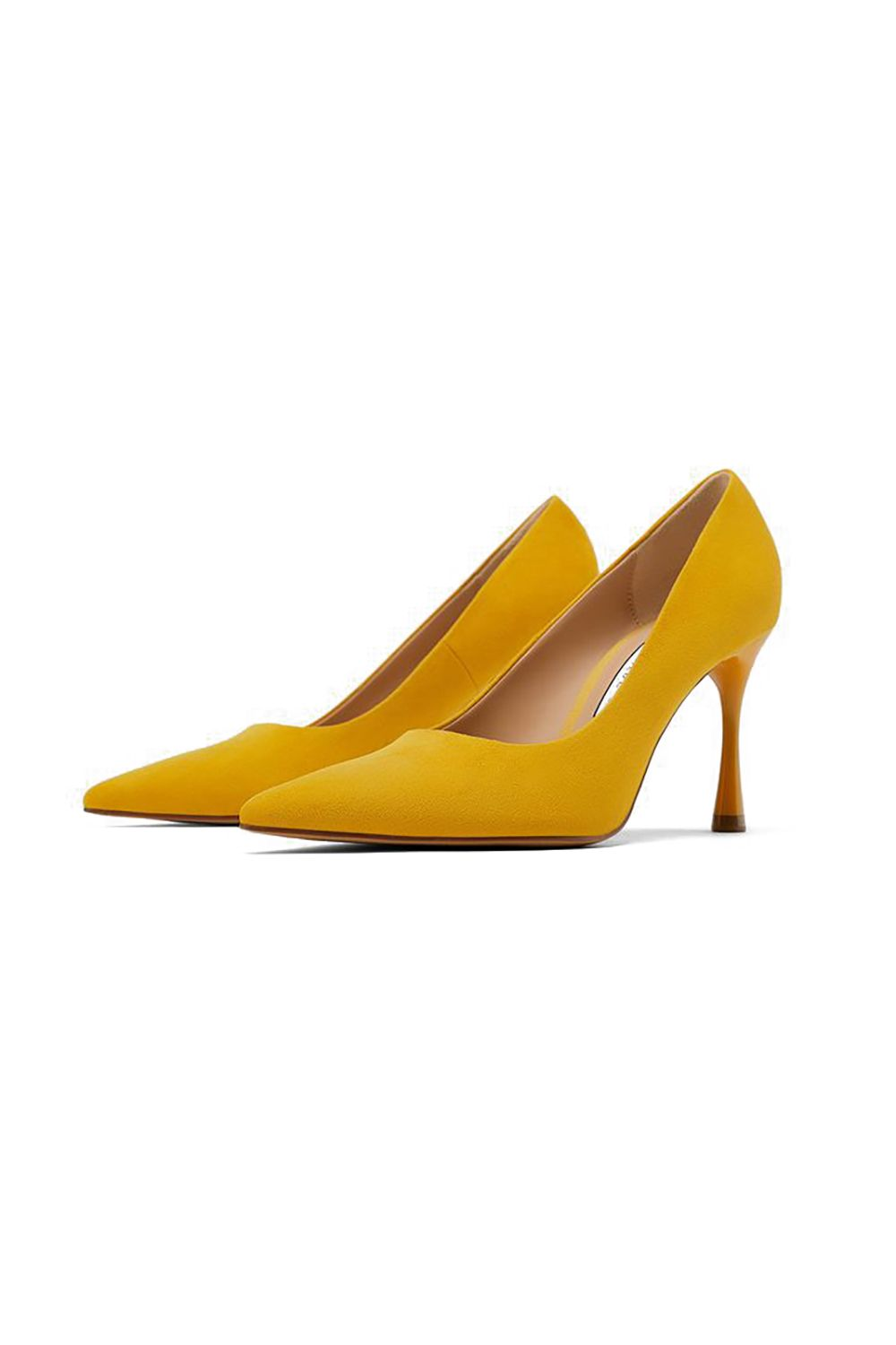 Power Pumps Zara, $40 SHOP IT Upgrade your basic stilettos with these rounded heels. The mustard-yellow shade adds a chic twist to your serious all-black wardrobe.