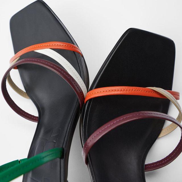 sandalias de tiras finas y tacón de zara
